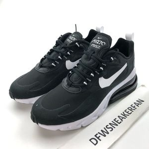 Nike Air Max 270 React Womens Black White Sneakers
